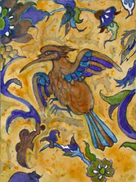 Islamic Bird Pattern 2